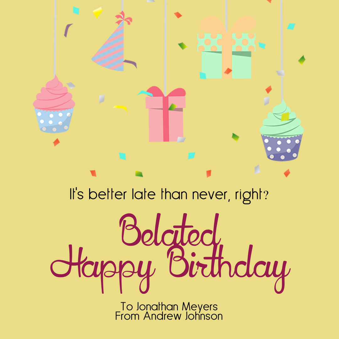 Confetti Happy Birthday Message - Animation  Template