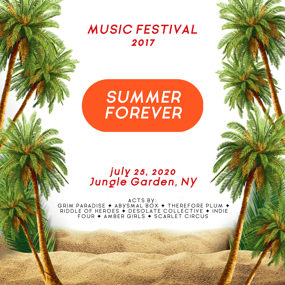 Summer Forever Festival - Editable Animation  Template