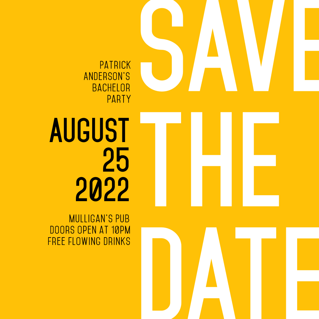 Save the Date Invitation Design - Animation  Template