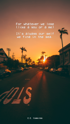 Editable Simple Beach Summer Quote Post for Social Media