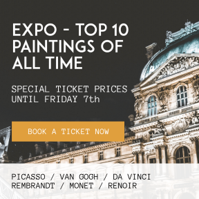 Sell Art with this Editable Museum Expo Banner Invitation