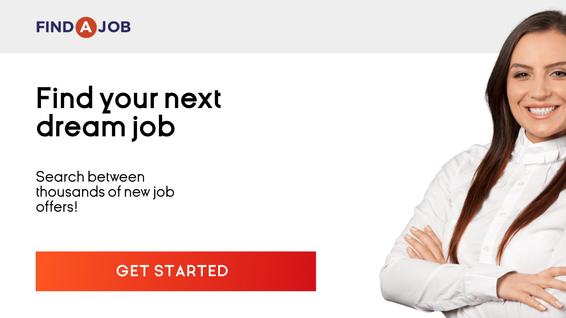 Recruitment agency banner to find Animation  Template