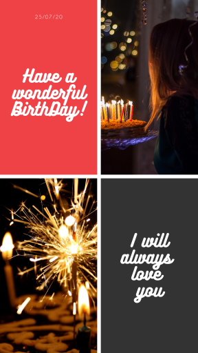 Saying Annoucement Quote Photo Collage