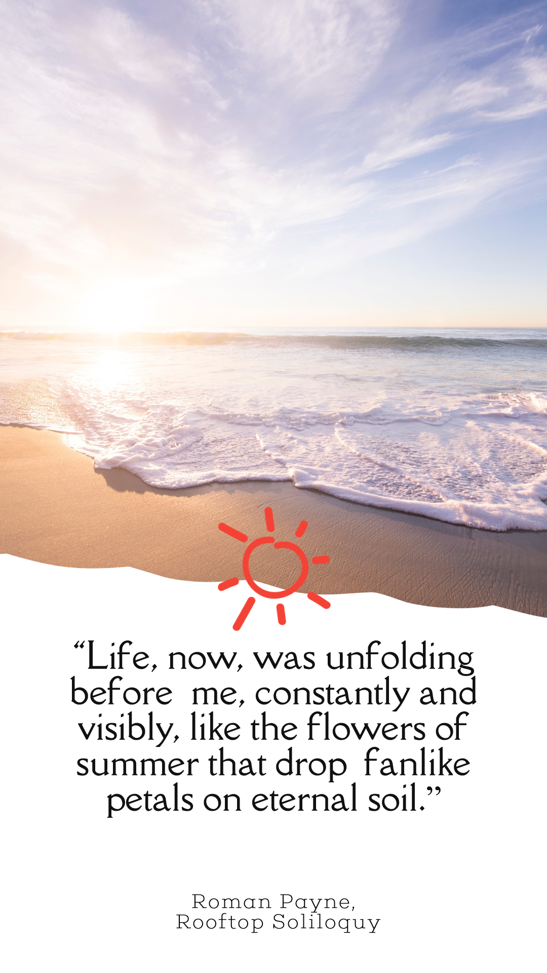 Photo Summer Quote Post Easy to Animation  Template