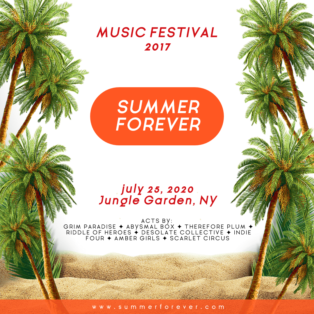 Summer Forever Festival - Editable Design  Template