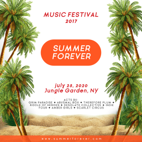 Summer Forever Festival - Editable Colorful Design