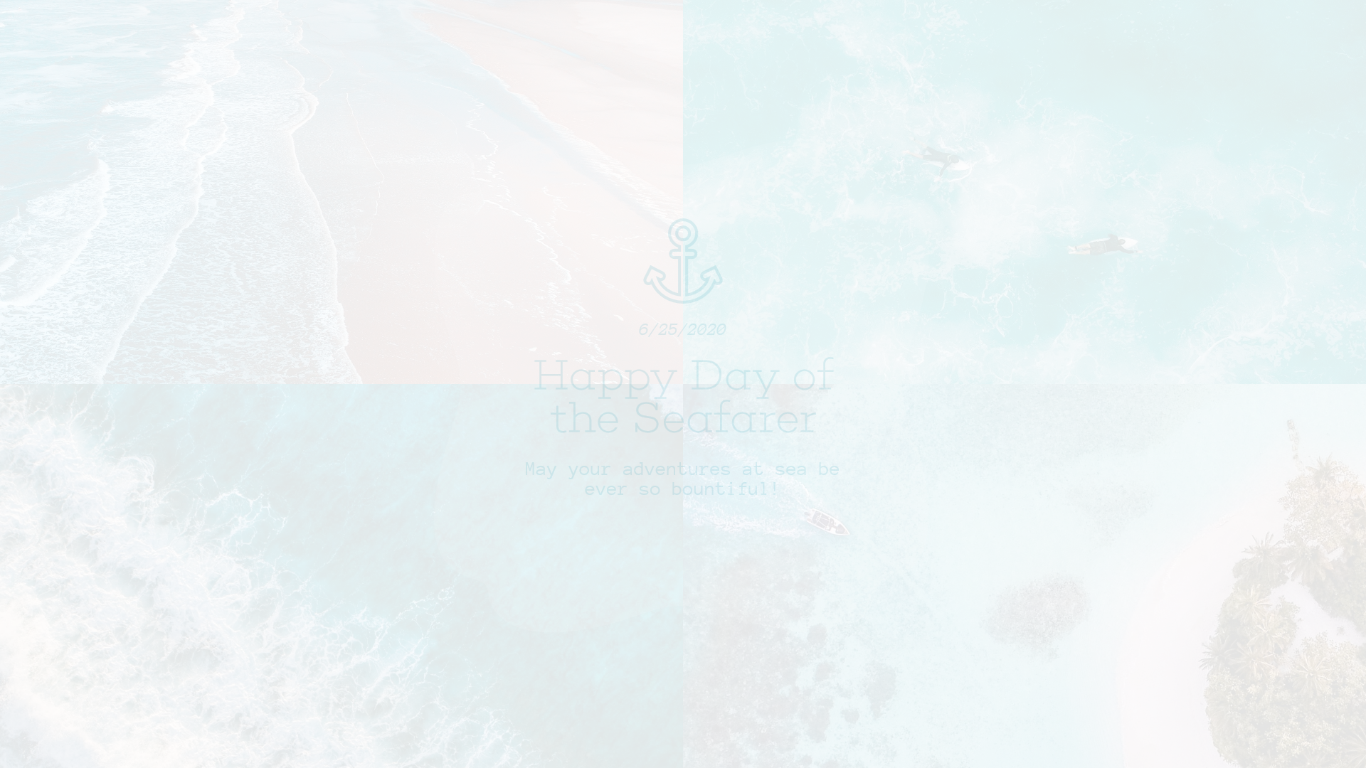 Blue Sea Custom Collage Design Animation  Template