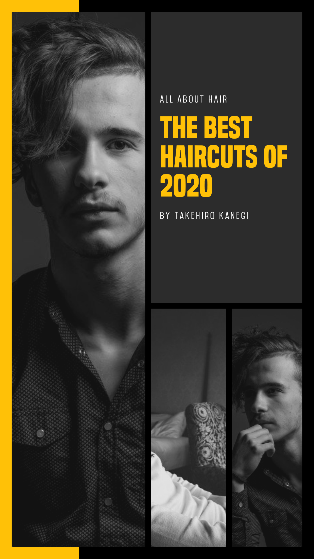 Custom Men's Grooming Photo Collage Animation  Template
