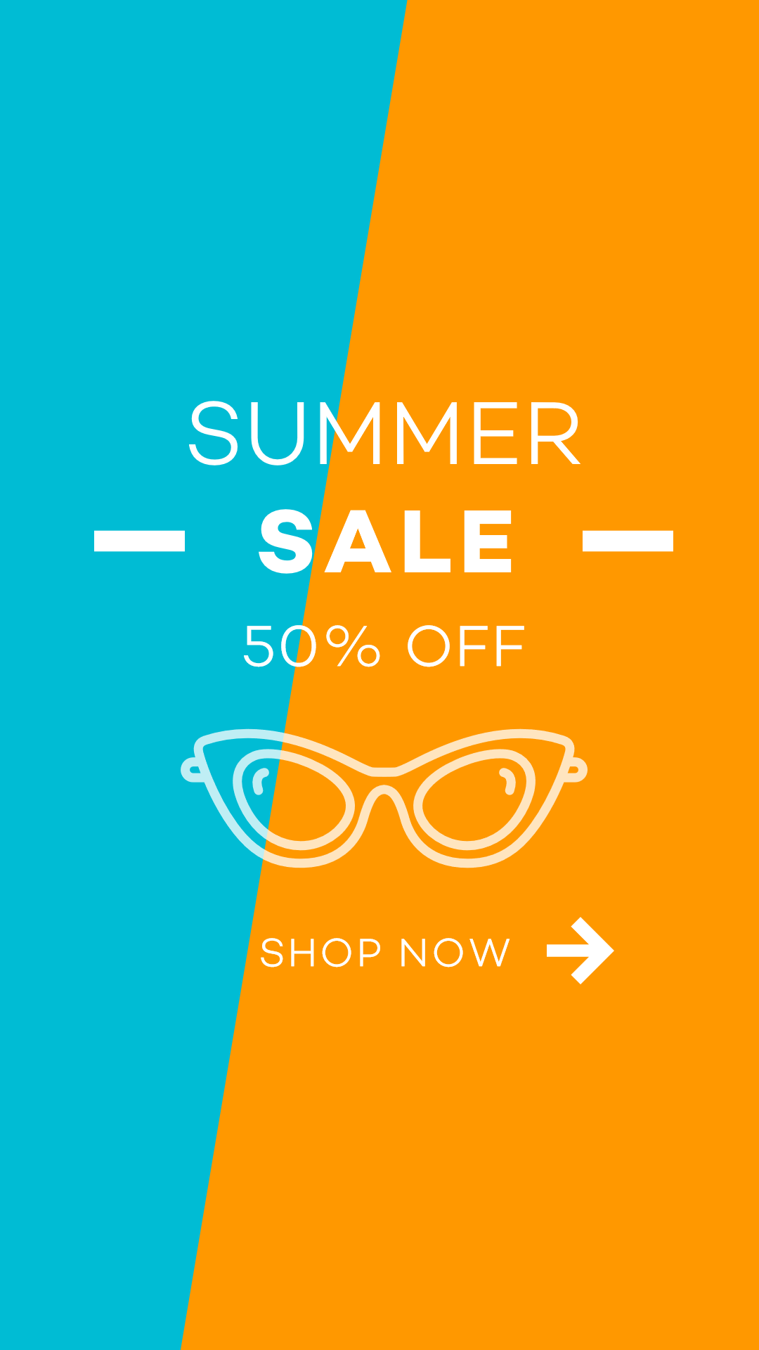 E-commerce Summer Shopping Ad Design  Template