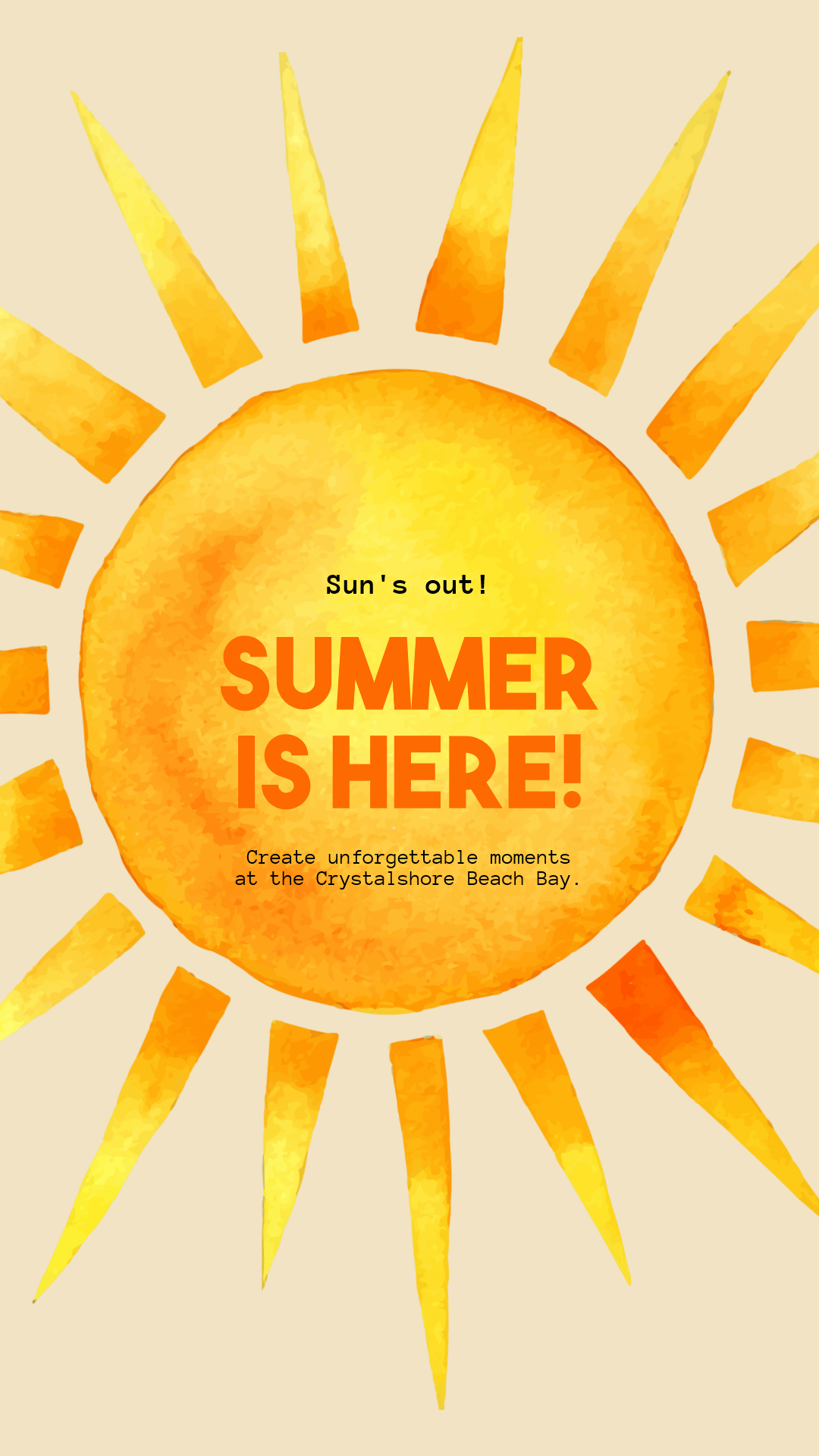 Editable Summer Vibes Post for Animation  Template