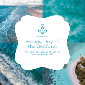 Blue Sea Custom Collage Design
