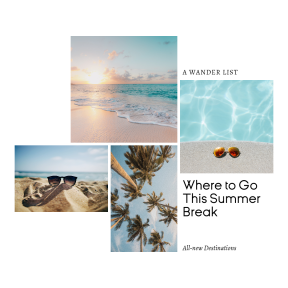 Editable Summer Travel Photo Collage