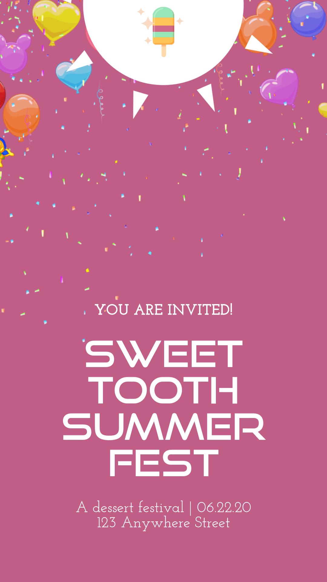 Custom Invitation Design - Popsicle Animation  Template