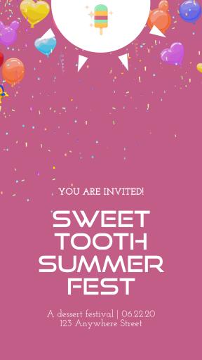 Custom Invitation Design - Popsicle Dessert Sweet Party Summer Social Media Editable Graphic