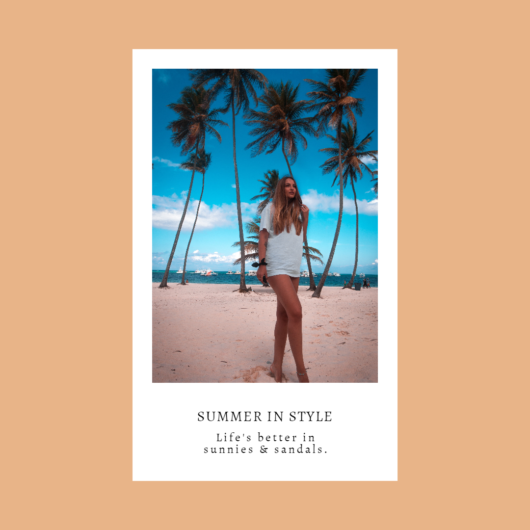 Customizable Summer in Style Graphic Animation  Template
