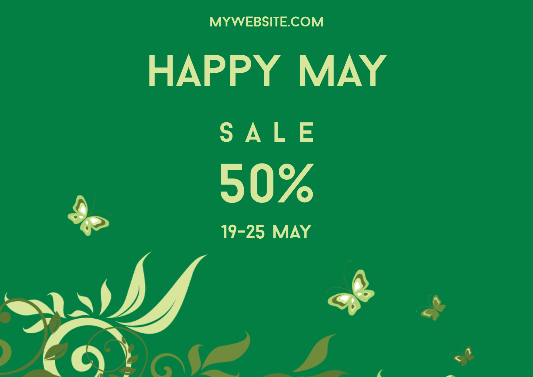 Happy May Sale Design  Template