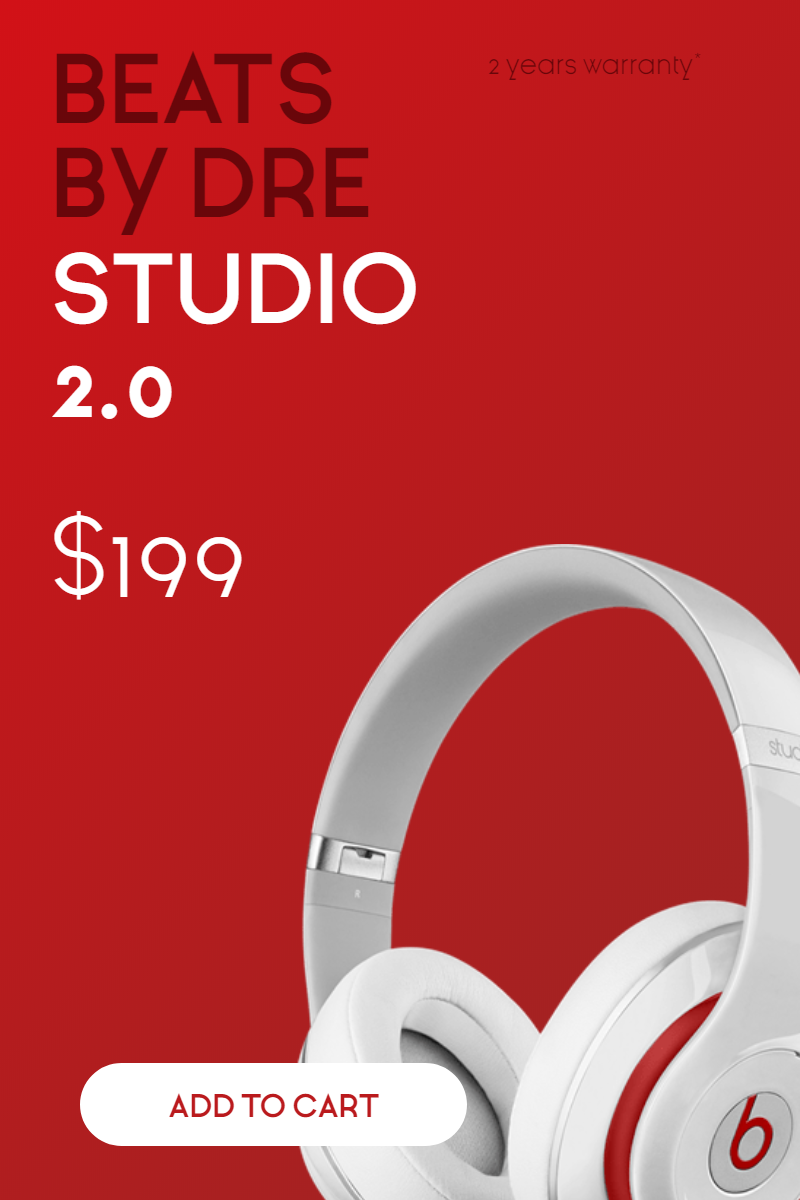 Sales Banner - Beats Headphones Design  Template