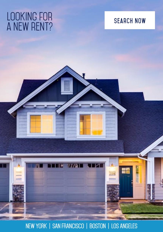 Real Estate Modern Banner Design  Template