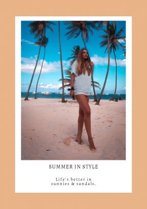 Customizble Summer in Style Graphic Post