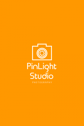 Orange Modern Photography Art & Editable Logo