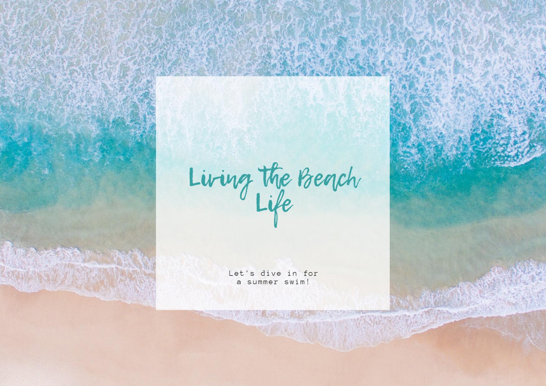 Blue Ocean Water Summer Your Social Design  Template