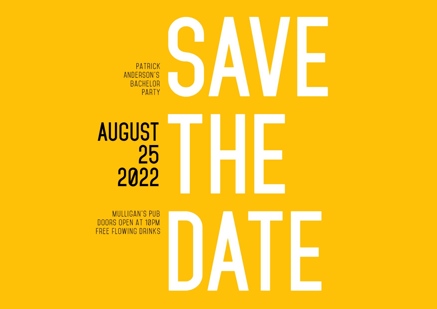 Save the Date Invitation Design - Design  Template