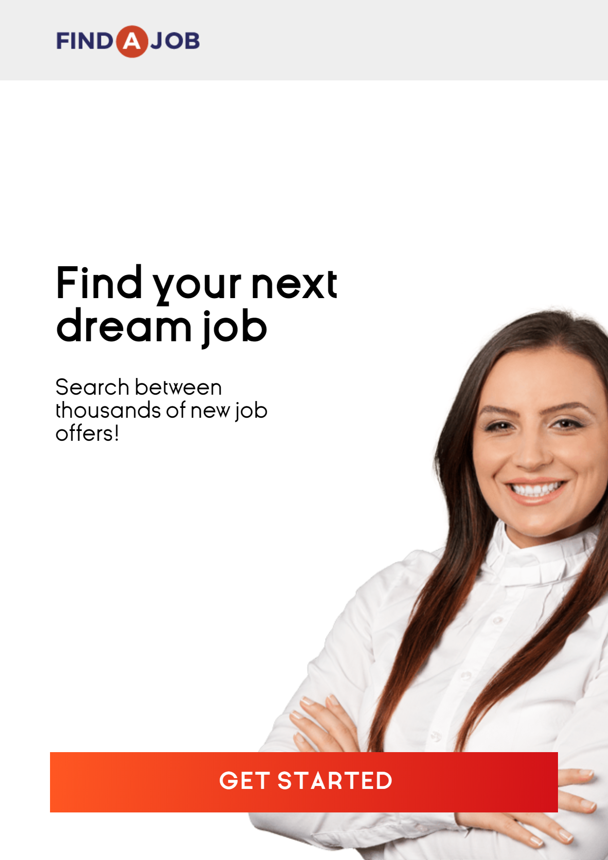 Recruitment agency banner to find Design  Template