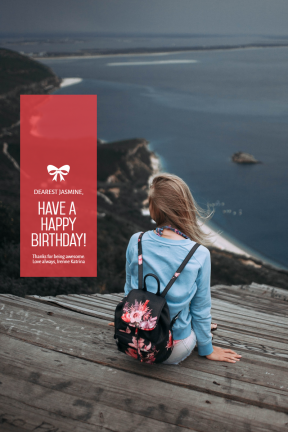Celebrating Happy Birthday Customizable Graphic