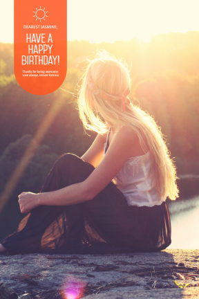 Happy Birthday Photo Social Media Post