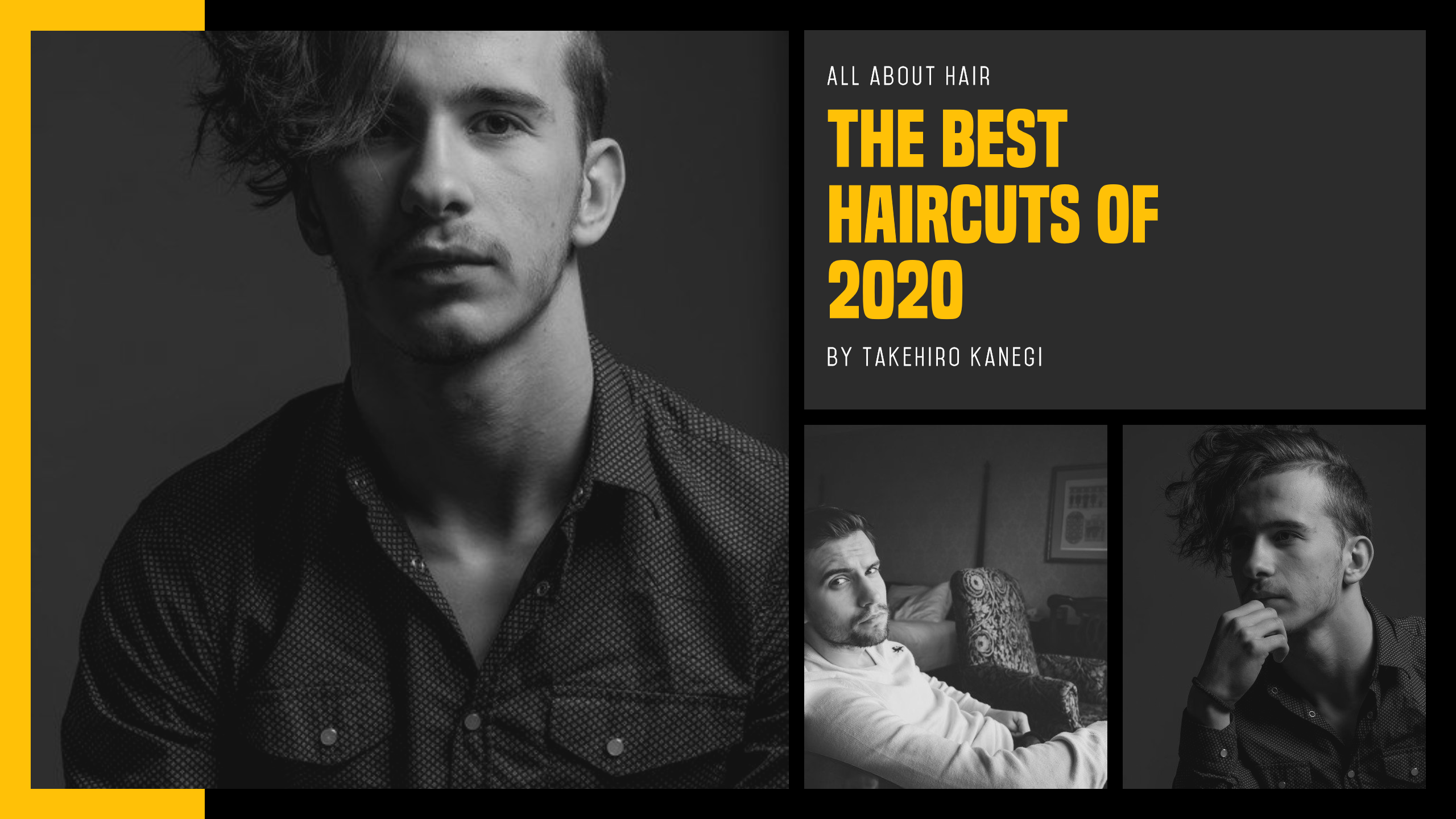 Custom Men's Grooming Photo Collage Design  Template