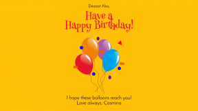 Have A  Happy Birthday Customizble Graphic Post