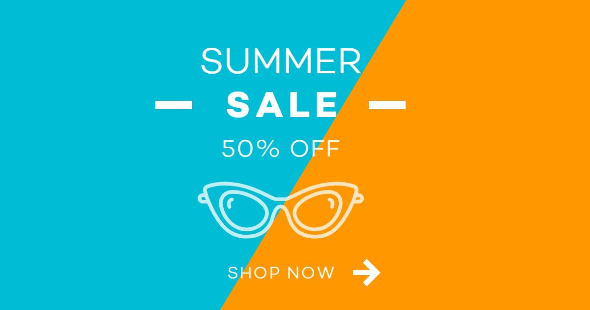E-commerce Summer Shopping Ad Design  Template