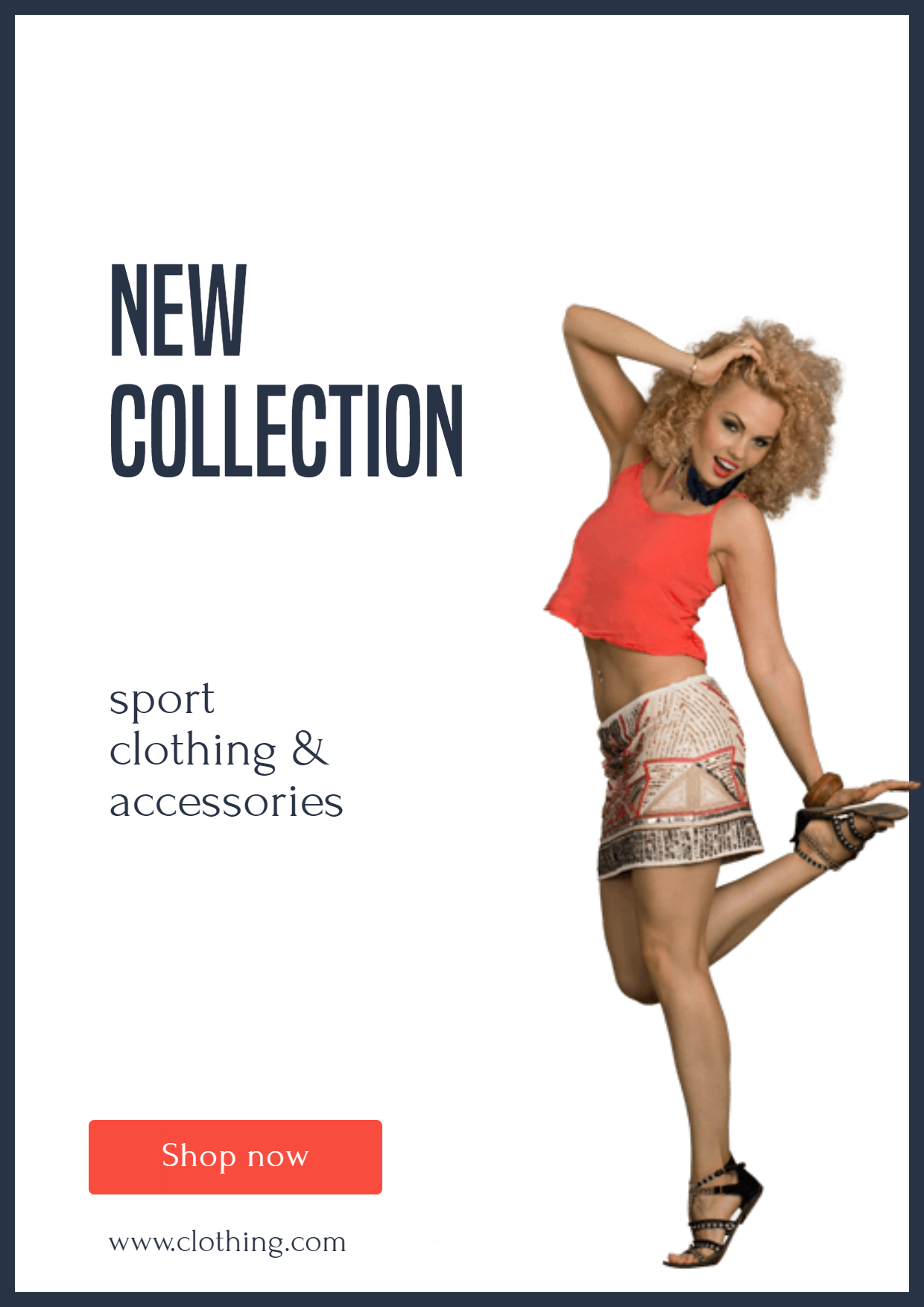Latest sport clothing - New Sport Design  Template