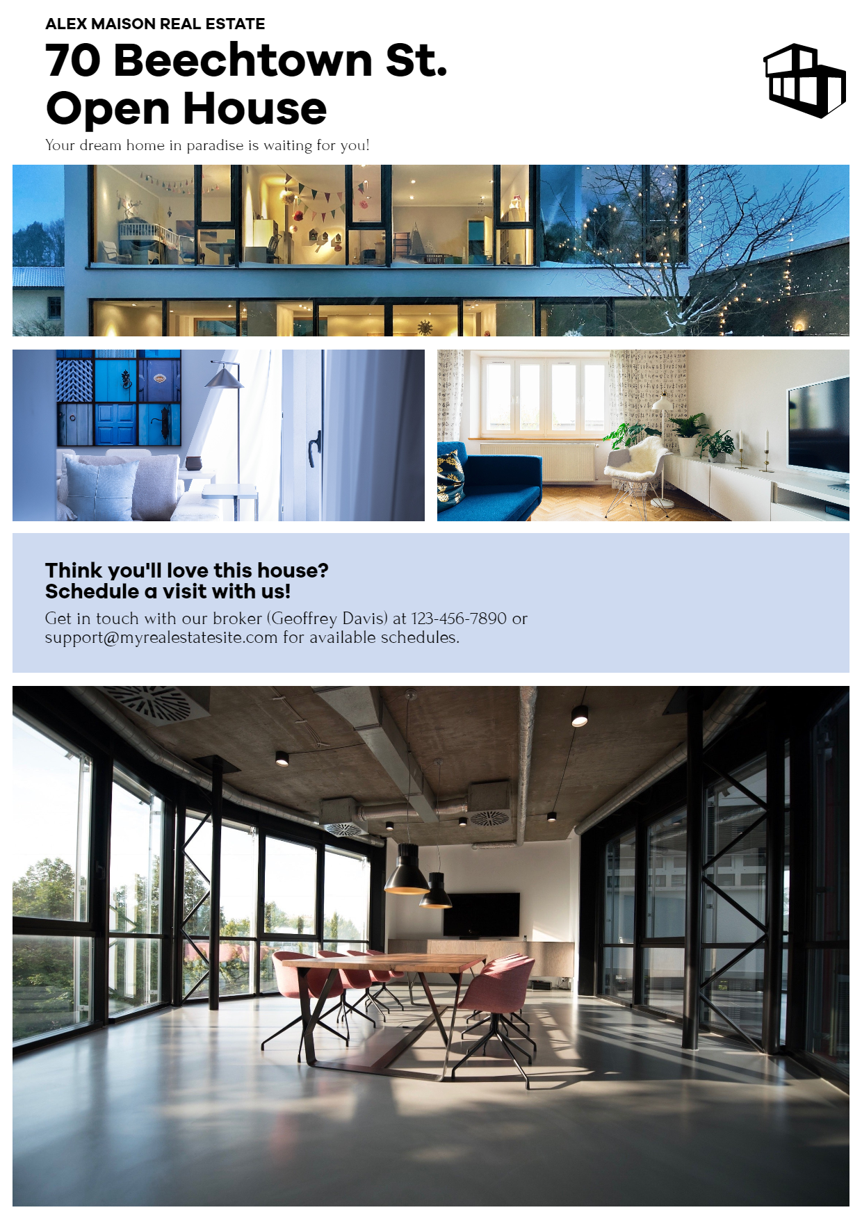 Real Estate - Modern Photo Collage Design  Template