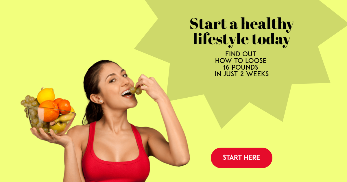 Start Living Healthy Customizable Design  Template