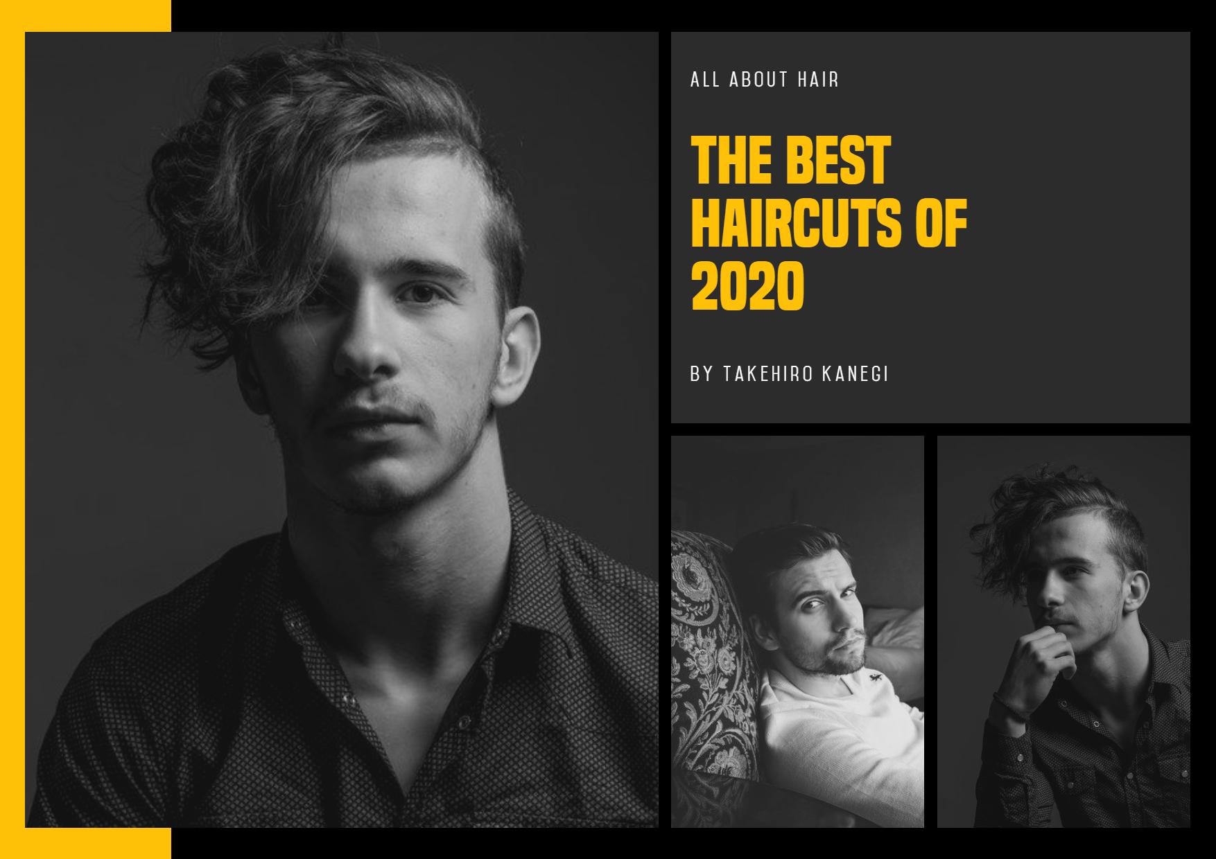 Custom Men's Grooming Photo Collage Design  Template