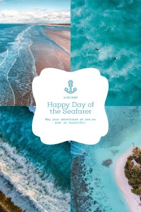 Blue Sea Custom Collage Design