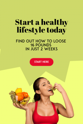 Start Living Healthy Customizable Design