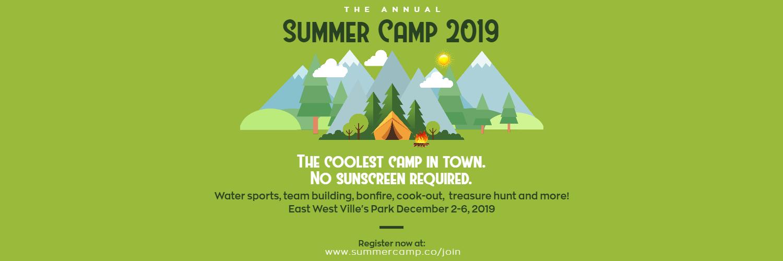 Camping Summer Camp Design - Green Design  Template