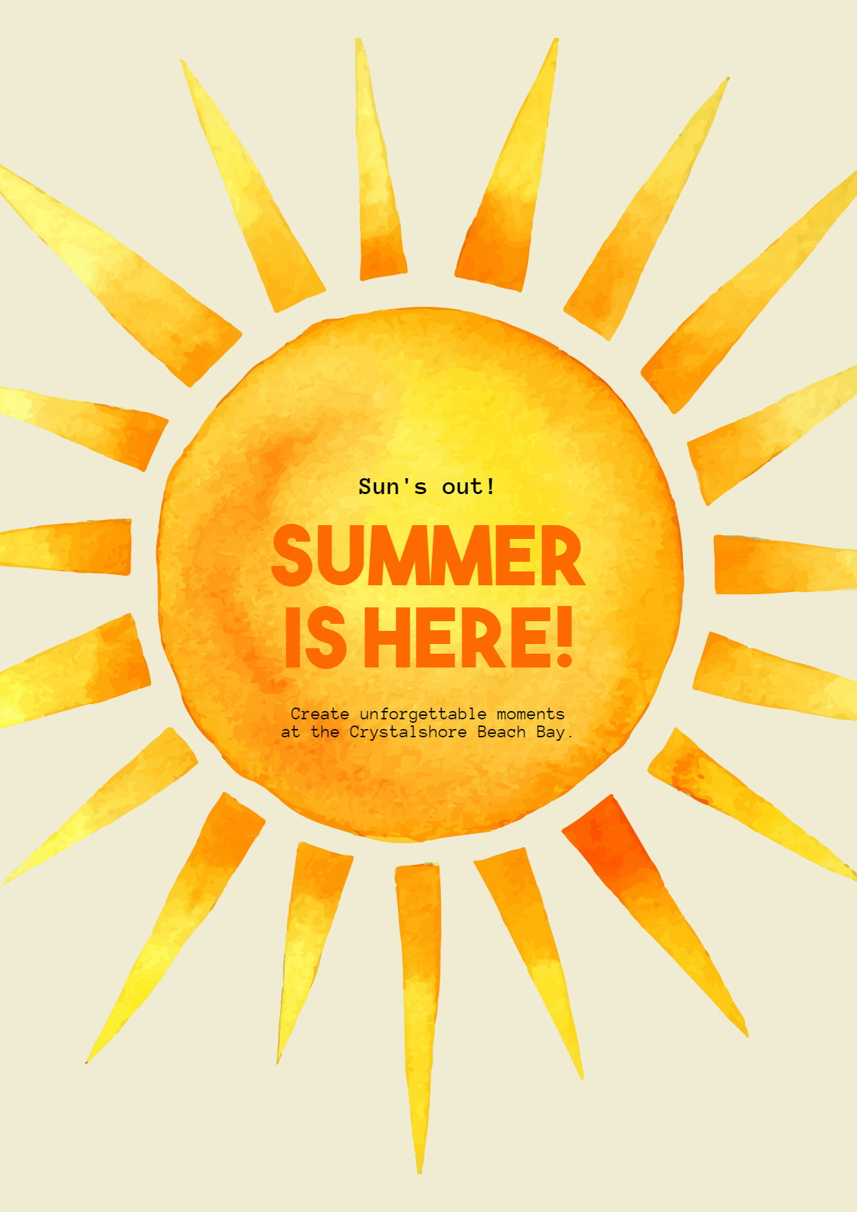 Editable Summer Vibes Post for Design  Template