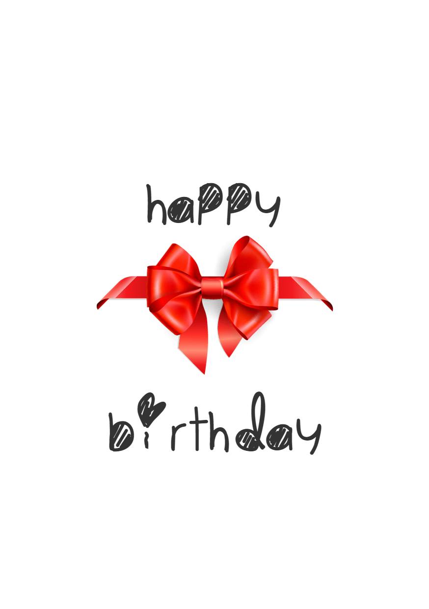 Happy Birthday Graphic for Your Design  Template