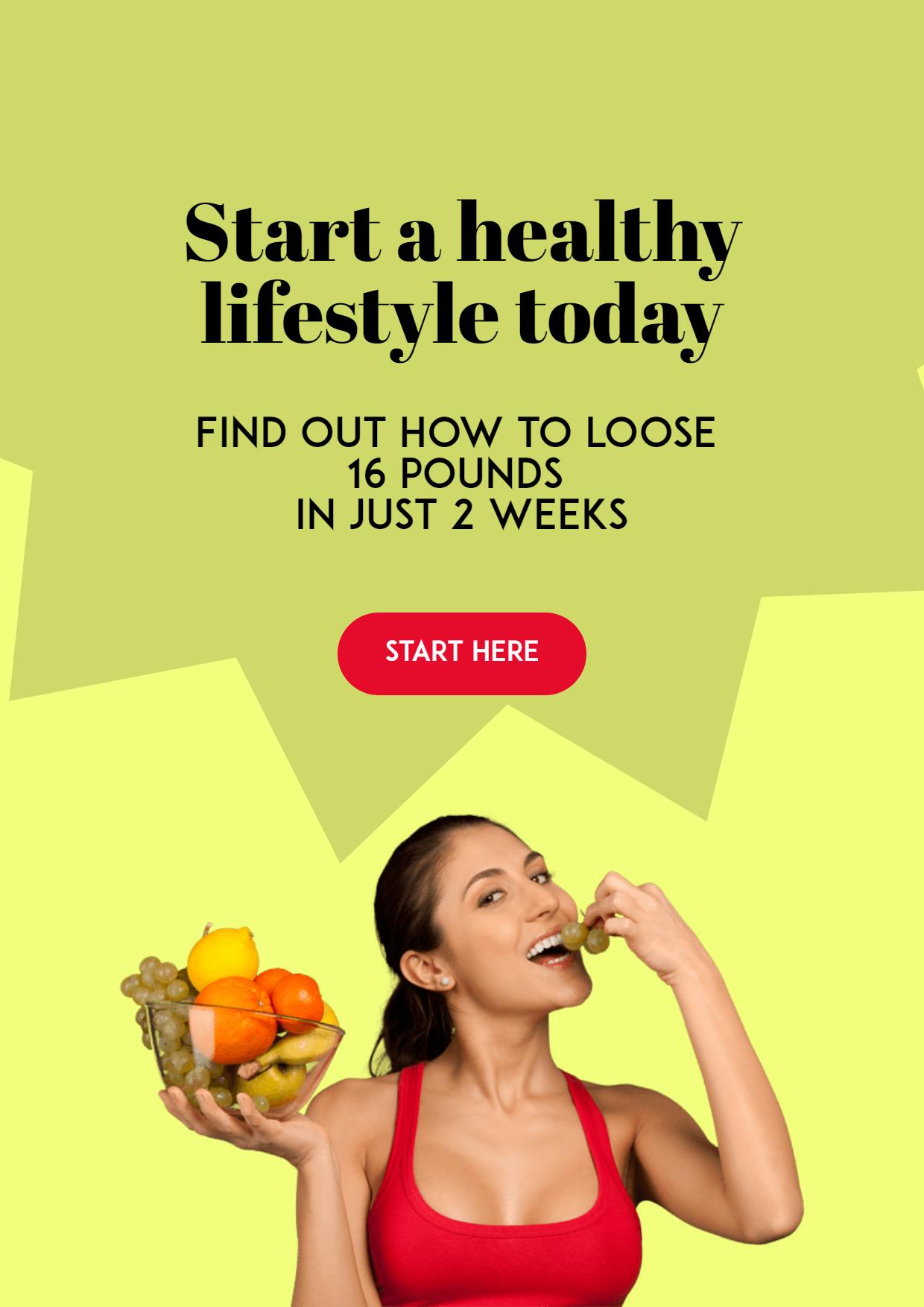 Start Living Healthy Customizable Design  Template