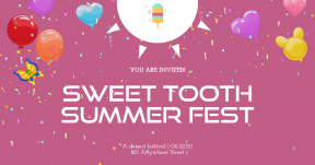 Custom Invitation Design - Popsicle Dessert Sweet Party Summer Social Media Editable Graphic