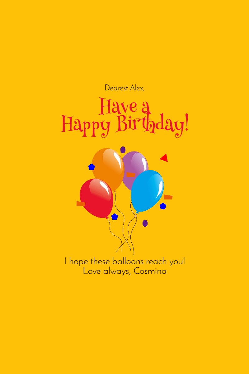 Have A  Happy Birthday Customizble Design  Template