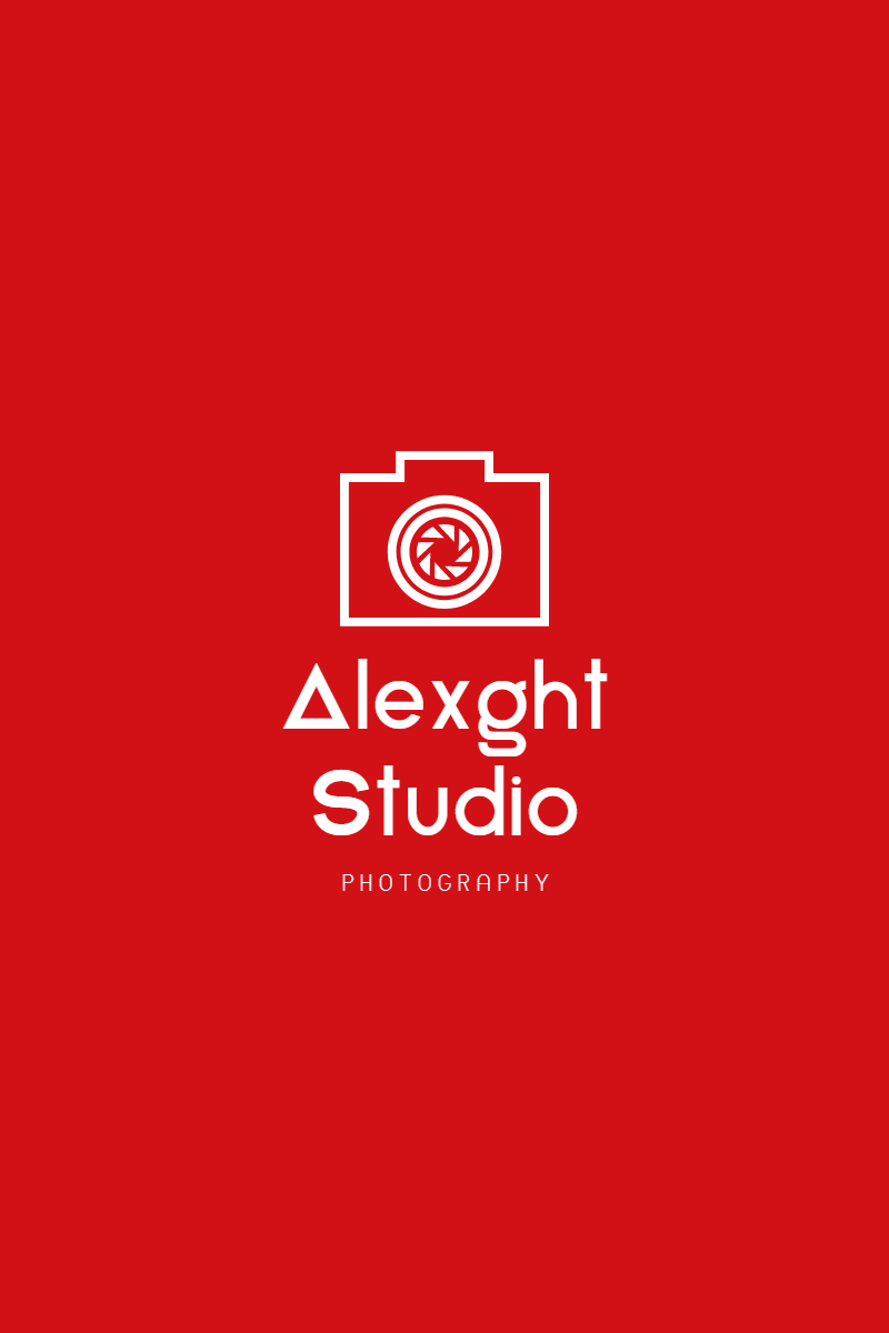 Red Modern Photography Art & Design  Template