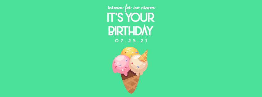 Scream for Ice Cream 0 Editable Design  Template