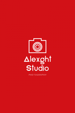 Red Modern Photography Art & Editable Logo