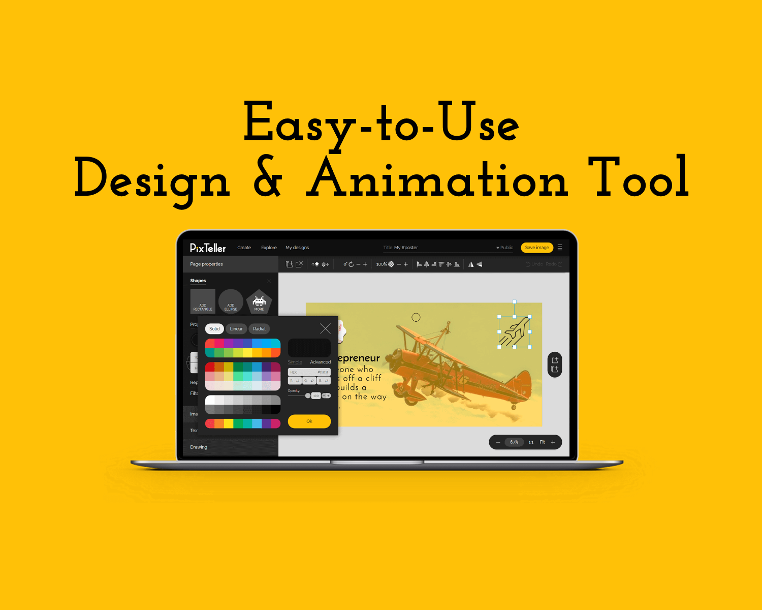 Easy-to-Use design & animation tool
