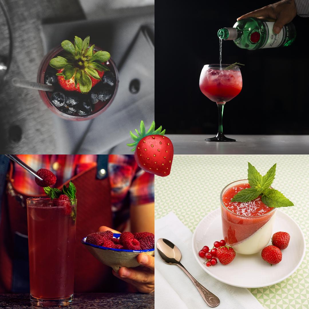 Strawberry photos Design  Template