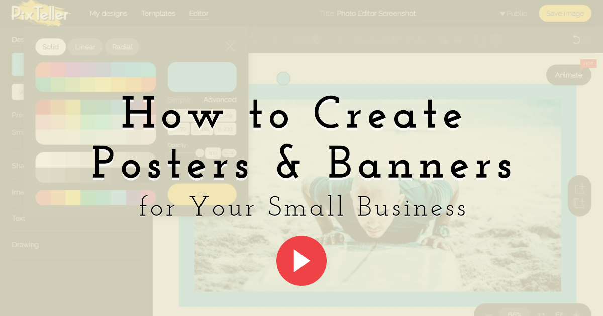 How to Create Posters and Banners Design  Template